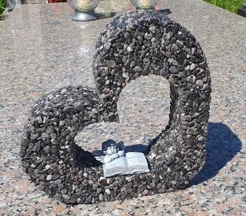 dekorácia na hrob srdce