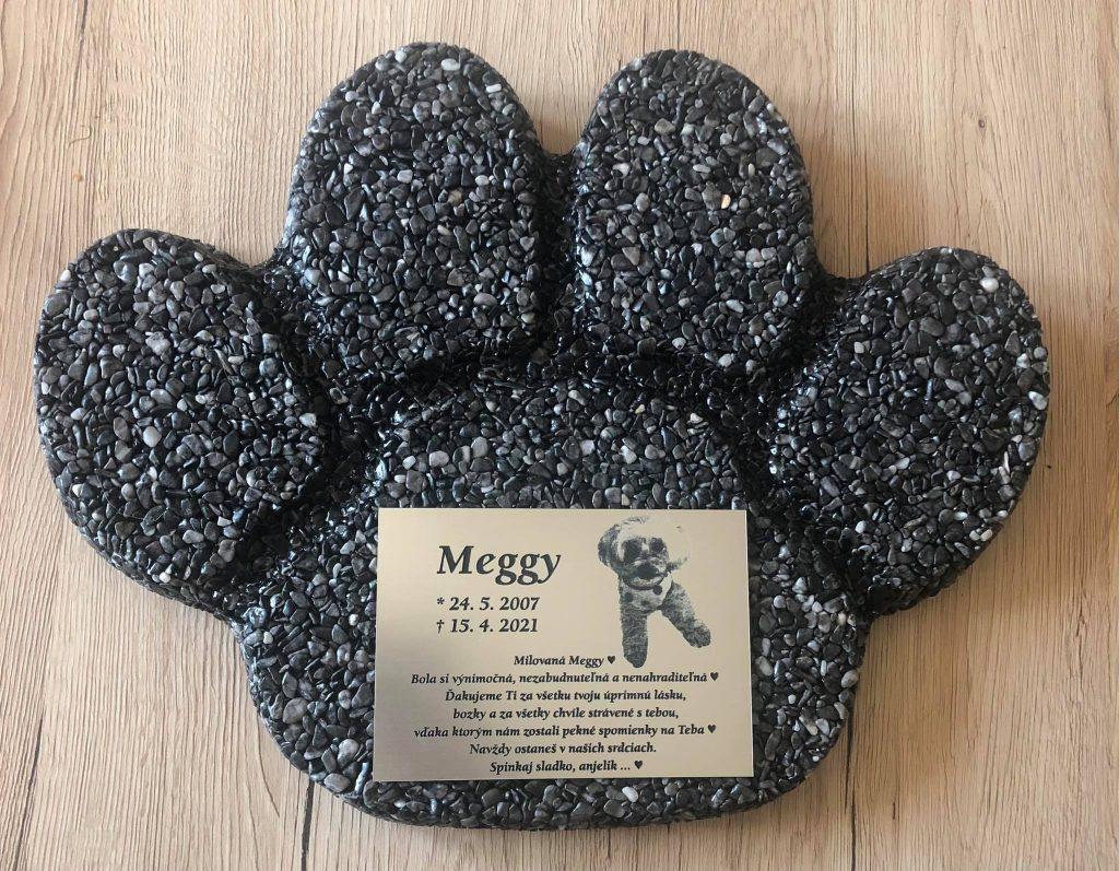 pomník pre psa Meggy